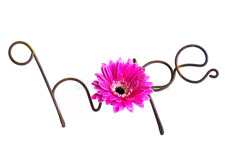 Wire Word: Hope Stock Image