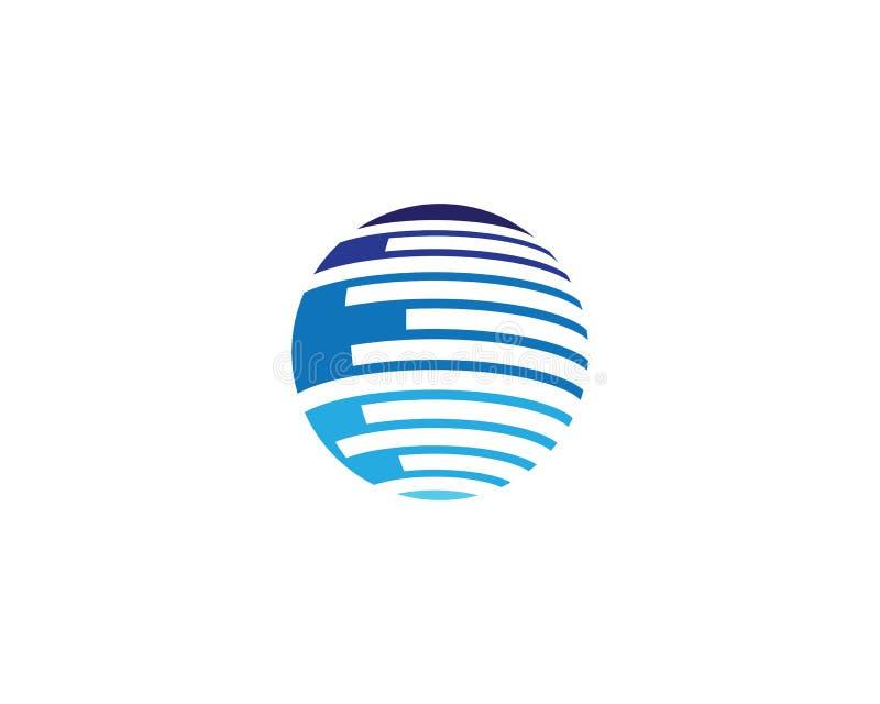 Wire world logo template stock illustration