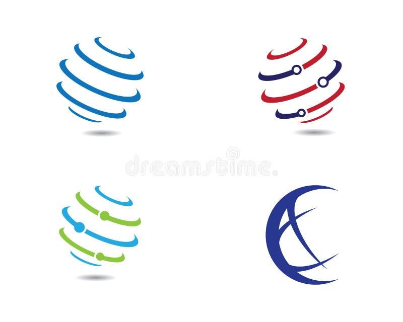 Wire World Logo Template vector icon stock illustration