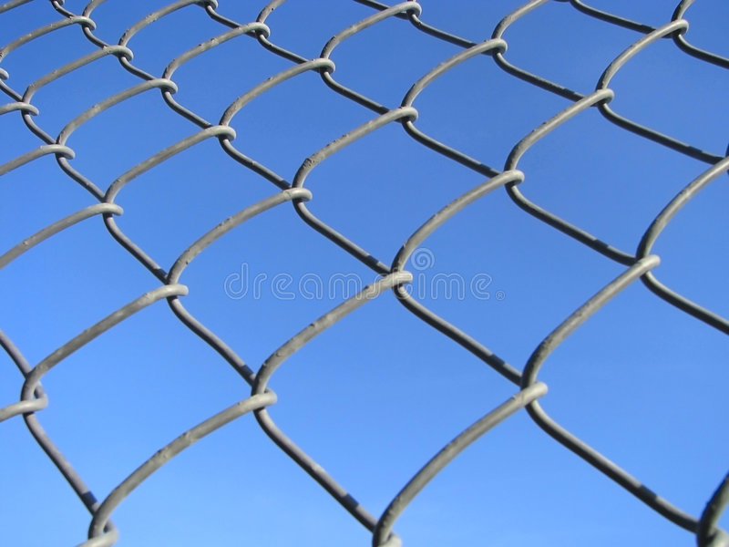 Download Wired fence. stock image. Image of dirty, chain, hold - 8448613