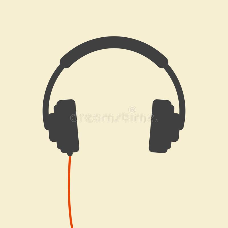Wired headphones royalty free illustration