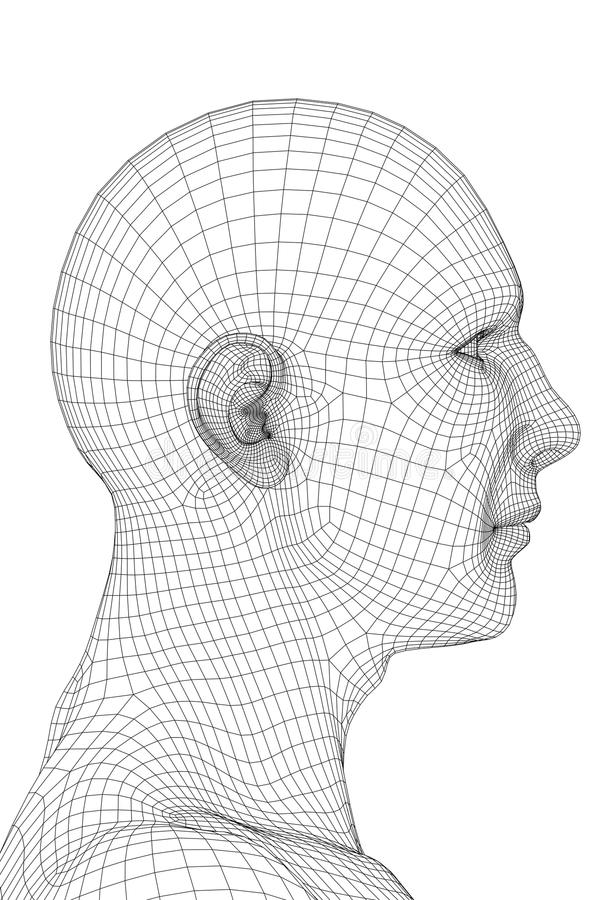 Wired Human Face stock illustration. Illustration of people - 9808978