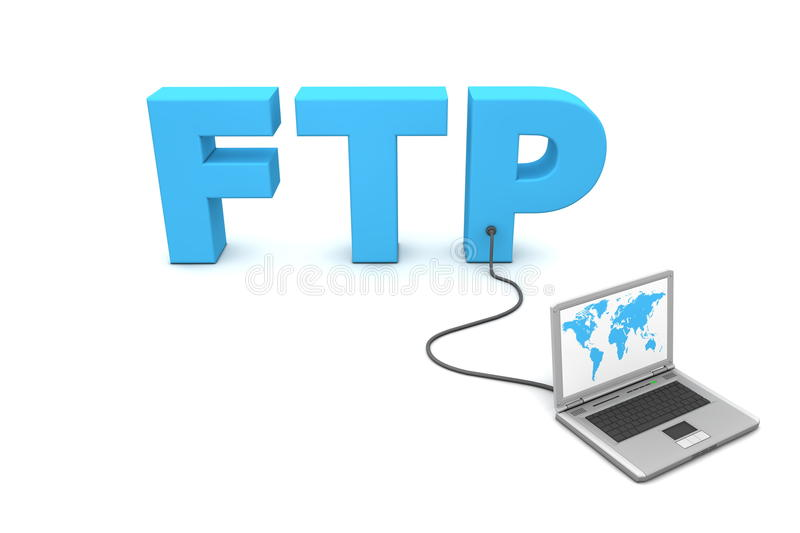 Download Wired to FTP stock illustration. Illustration of interchange - 9882702