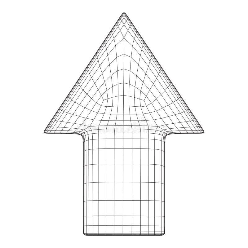 Wireframe多箭头的低落 皇族释放例证