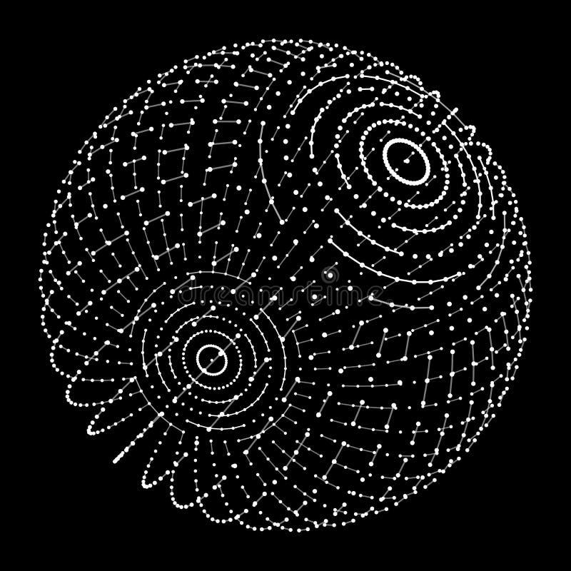 Wireframe滤网球形 库存例证
