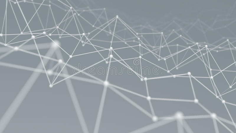 Wireframe网络形状背景3D回报 库存例证