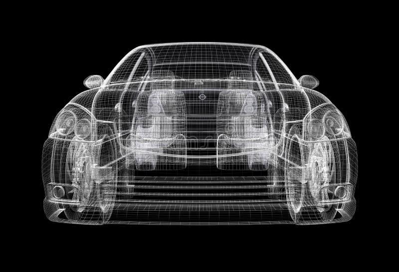wireframe автомобиля иллюстрация вектора
