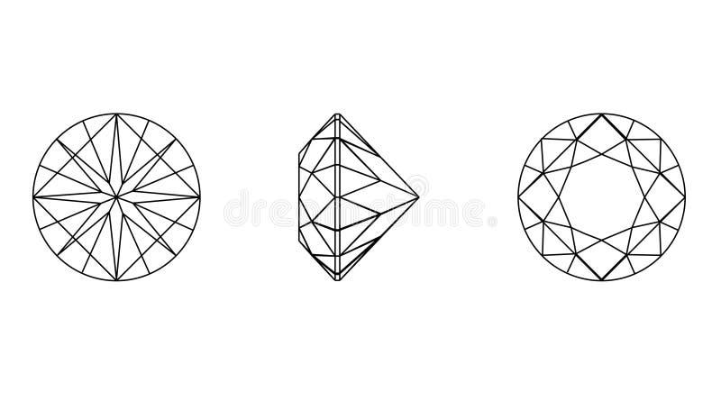 wireframe круглых форм gemstone бесплатная иллюстрация