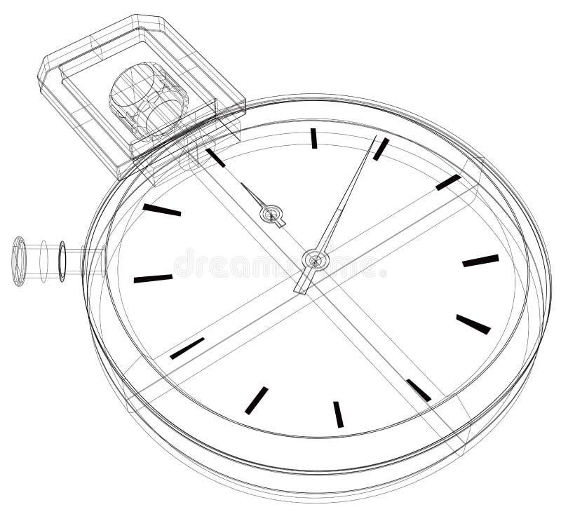 wireframe секундомера бесплатная иллюстрация