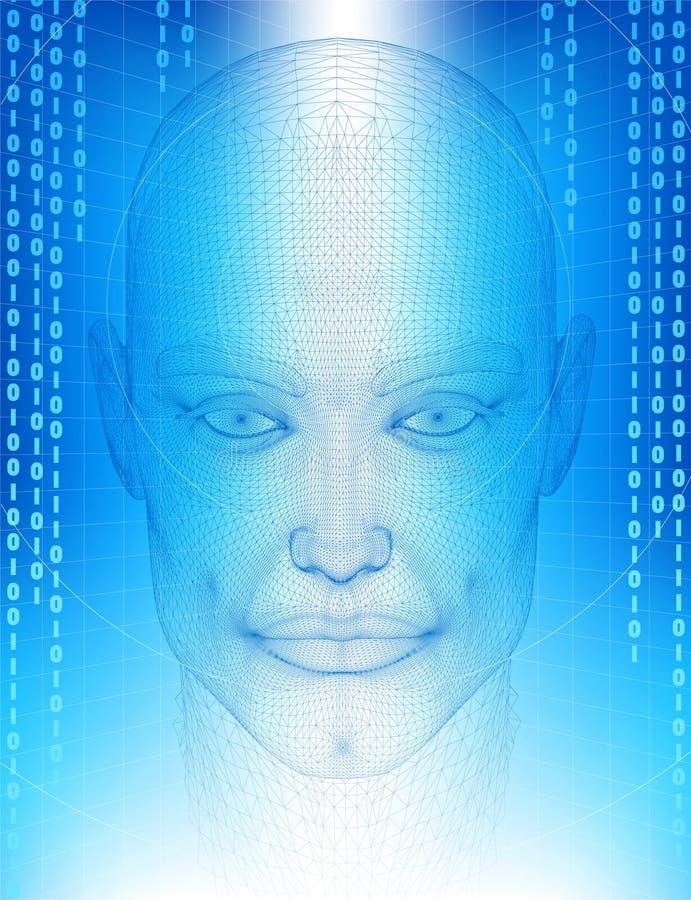 wireframe человека иллюстрация вектора