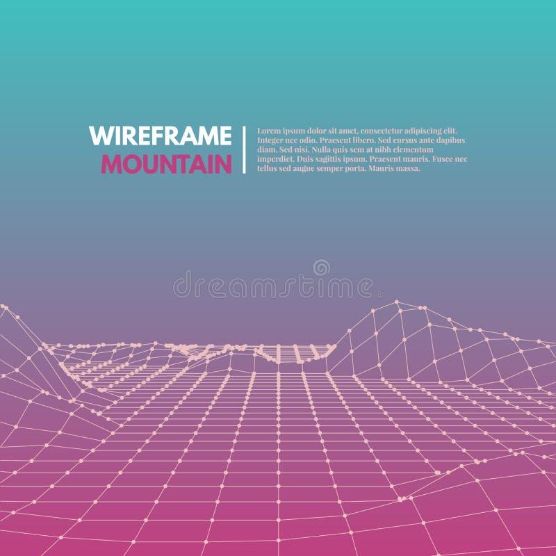 Download Wireframe滤网多角形表面 向量例证. 插画 包括有 概念, 网络, 商业, 艺术, 图象, 典雅 - 59100269