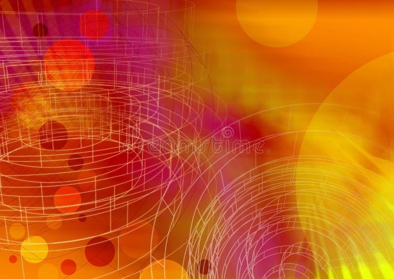 Wireframe 2 del círculo - una serie ilustración del vector