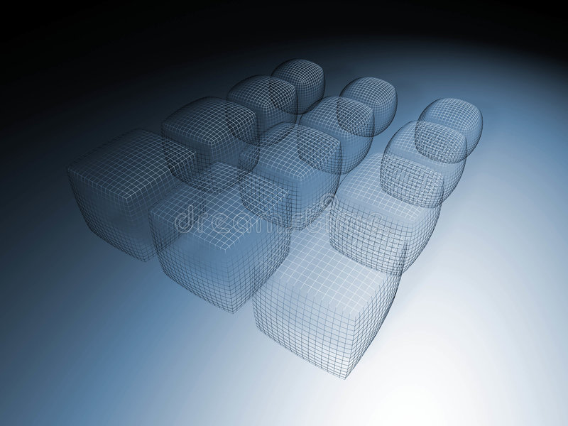 Wireframe 3D