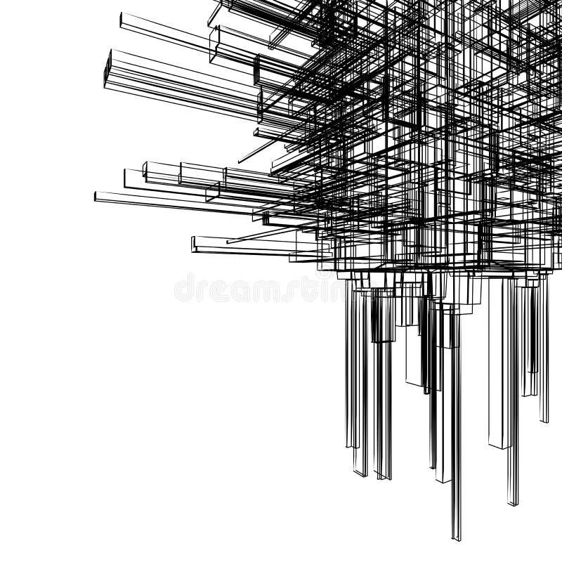 Wireframe abstracto stock de ilustración