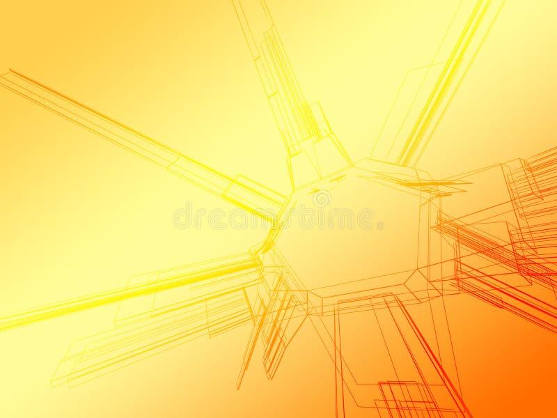 Wireframe abstracto del color stock de ilustración