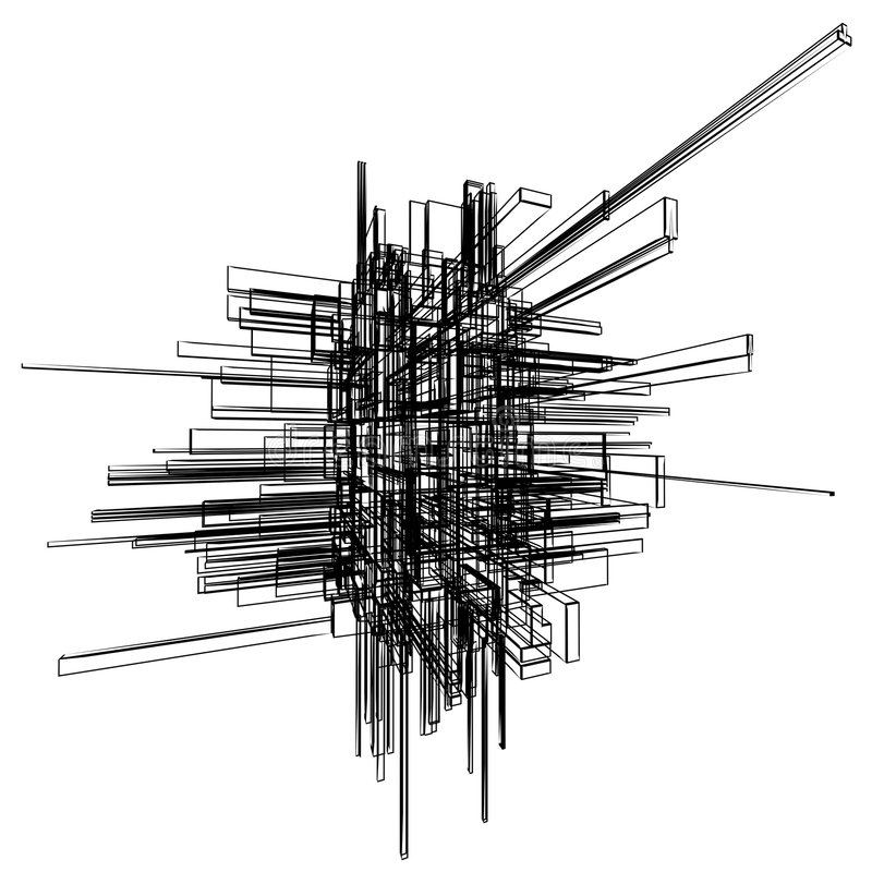 wireframe abstrait illustration libre de droits