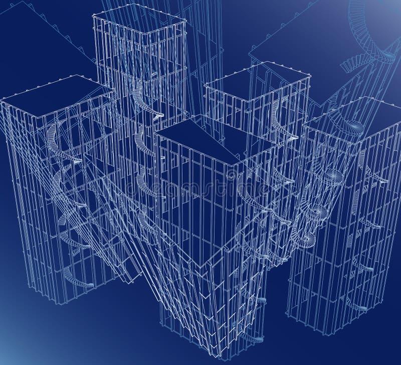 Wireframe Bogen lizenzfreie abbildung