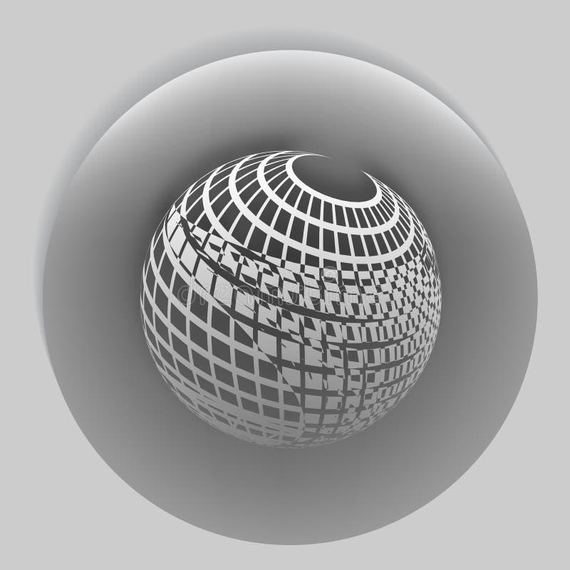 Wireframe Design Element. 3D Sphere. Illustration eps10 design stock illustration