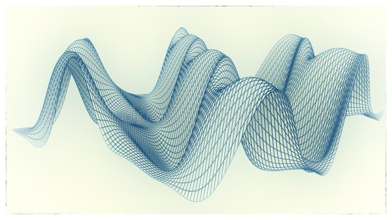 Wireframe - een skeletachtig driedimensioneel model van oppervlakte vector illustratie