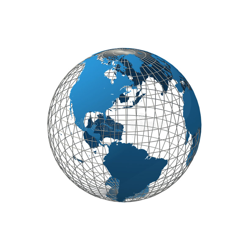 Wireframe globe royalty free illustration