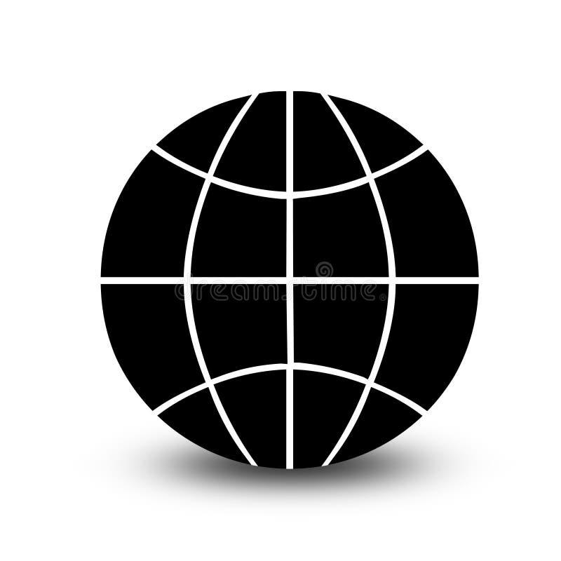 Wireframe globe icon royalty free illustration