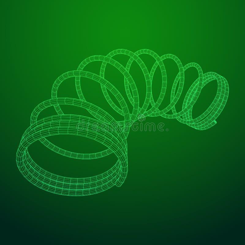 Wireframe helix wiosna ilustracja wektor