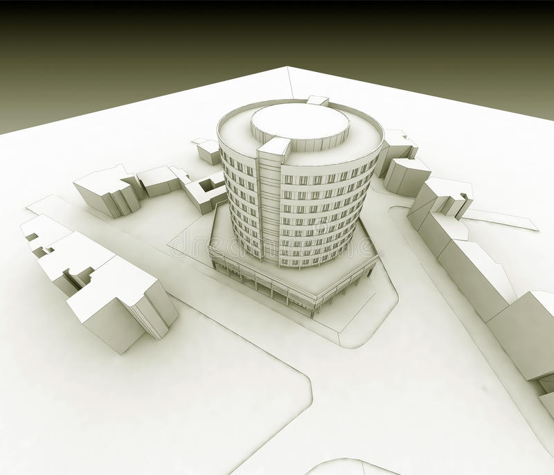 Wireframe Hotel vektor abbildung