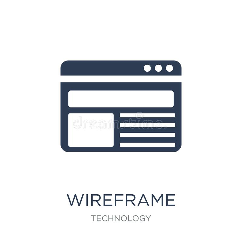 Wireframe icon. Trendy flat vector Wireframe icon on white background from Technology collection vector illustration