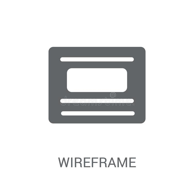 Wireframe icon. Trendy Wireframe logo concept on white background from Technology collection. Suitable for use on web apps, mobile apps and print media vector illustration