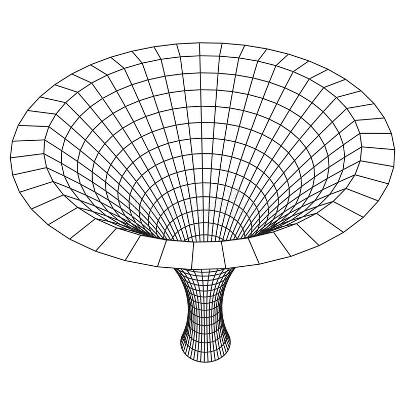Wireframe Mesh Funnel ilustração do vetor