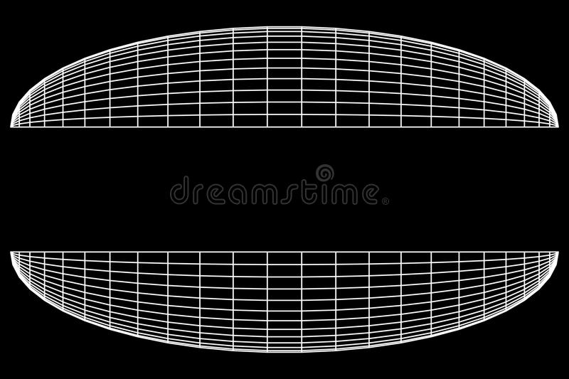 Wireframe Mesh Hemisphere illustration libre de droits