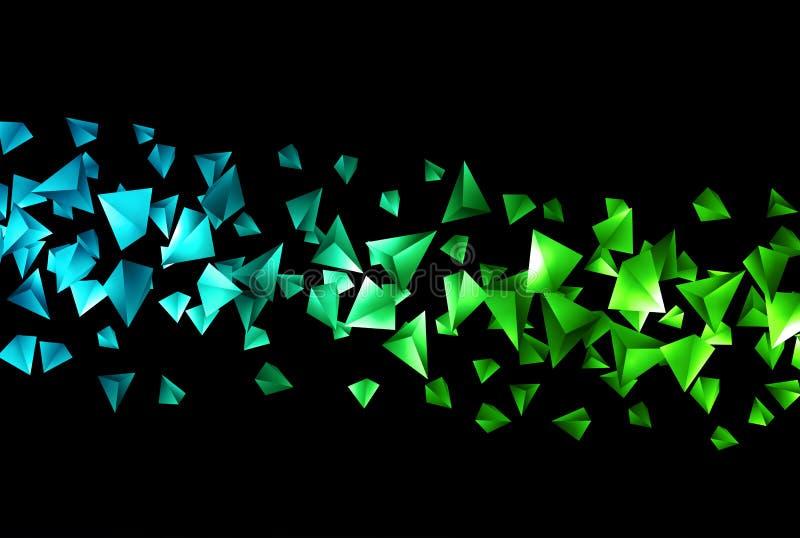 Wireframe poligonalny tło ilustracja wektor