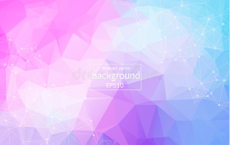 Wireframe polygonal background. polygonal background with connected lines and dots. Vector. Illustration royalty free illustration