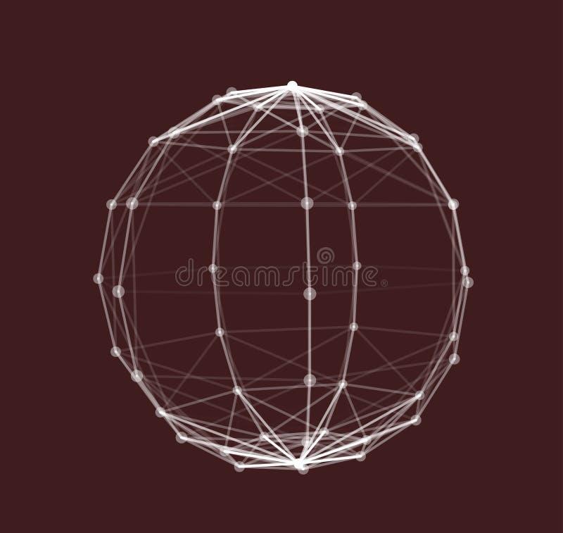Wireframe Polygonal Element vector illustration stock illustration