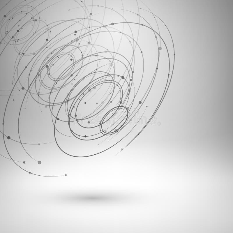 Wireframe siatki abstrakta tło ilustracja wektor