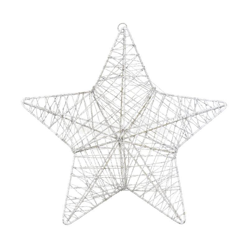 Wireframe Sparkly silverstjärna royaltyfria bilder