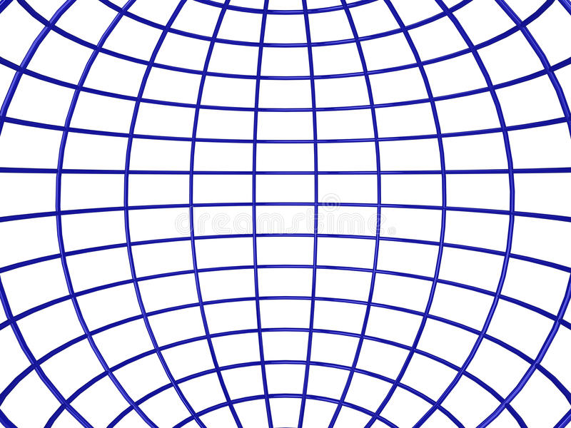 Wireframe Sphere Inside Royalty Free Stock Image