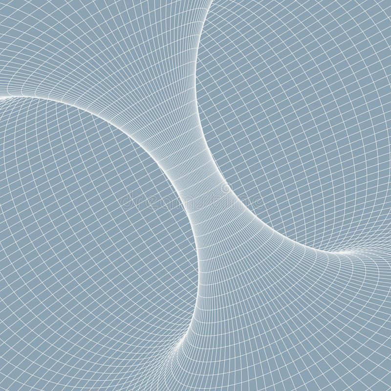 Wireframe torus with connected lines and dots . Mesh polygonal element. vector illustration