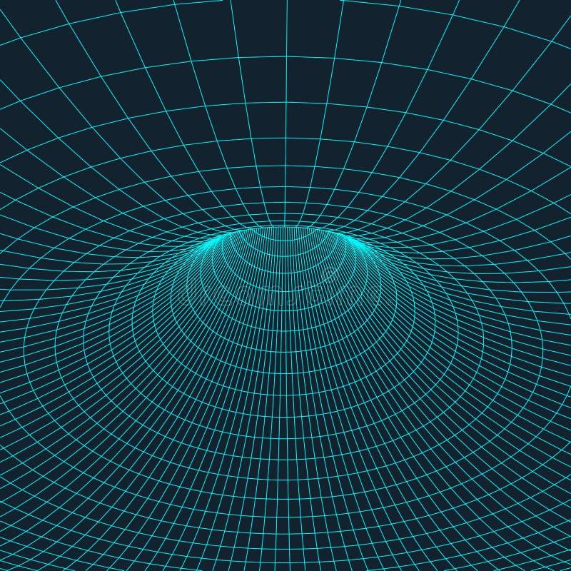 Wireframe-Torus mit verbundenen Linien und Punkten Polygonales Element der Masche Vektorabbildung EPS10 lizenzfreie abbildung