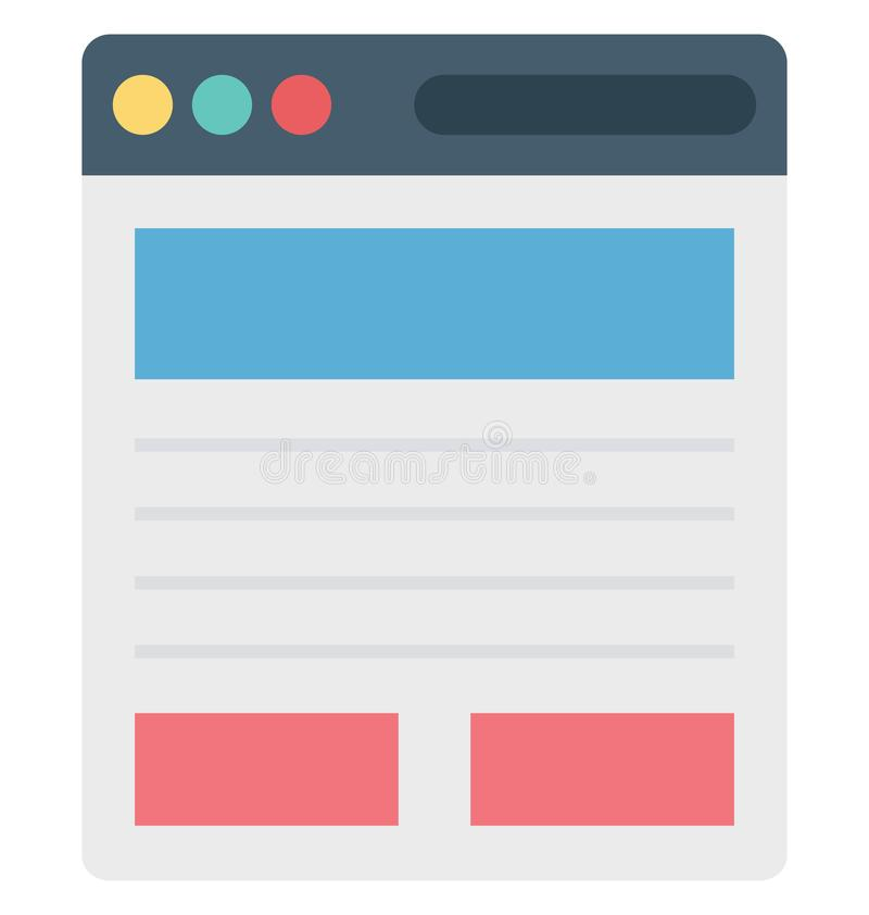 Wireframe, user interface, Isolated Vector icons that can be easily modified or edit stock illustration