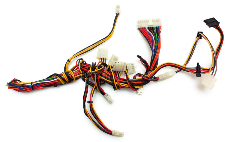 Wireharness d'ordinateur avec le connecteur photographie stock