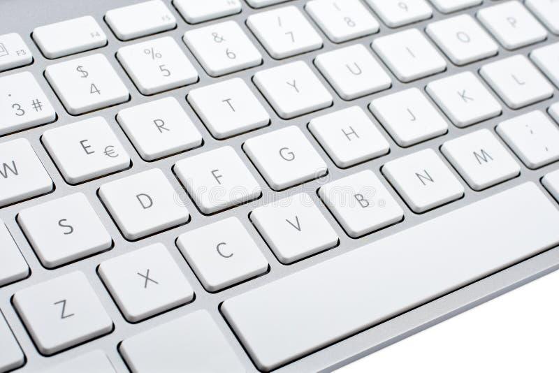Wireless aluminum keyboard detail royalty free stock image