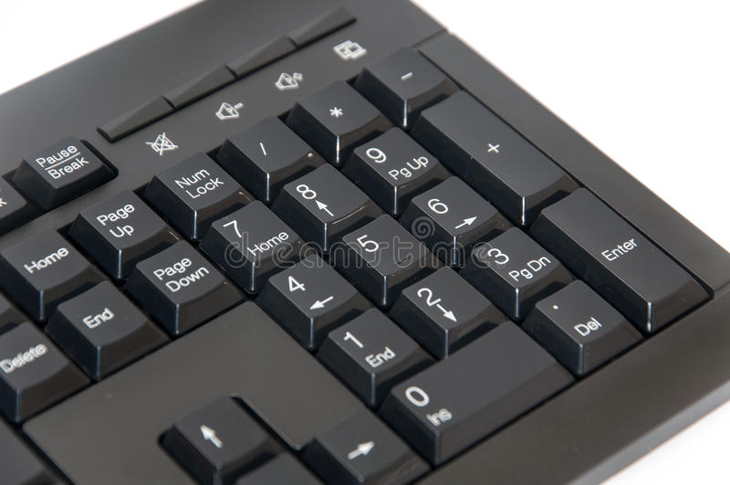 Wireless black computer pc keyboard. Brand new wireless black computer pc keyboard royalty free stock images