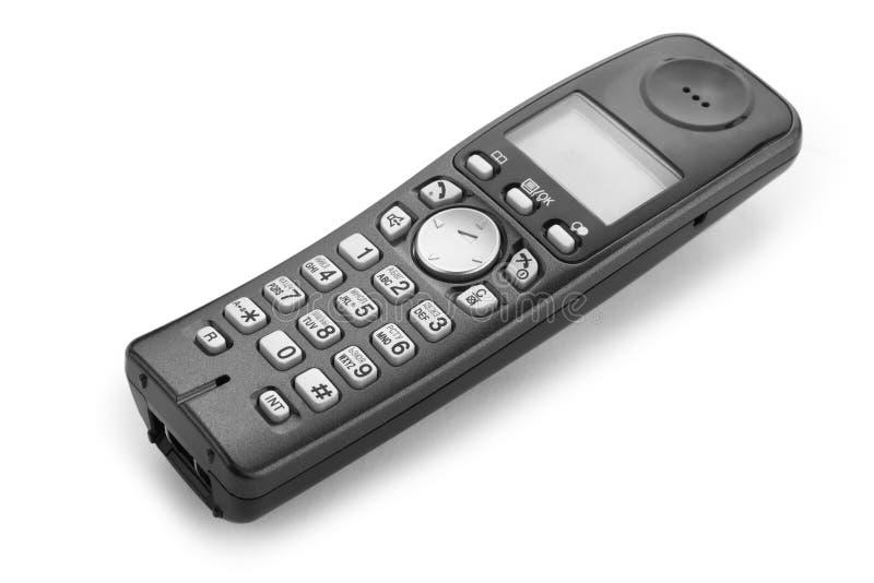 Wireless black phone isolated stock photos