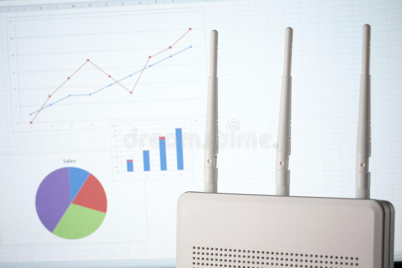 Download Wireless business stock image. Image of graph, router - 18907257
