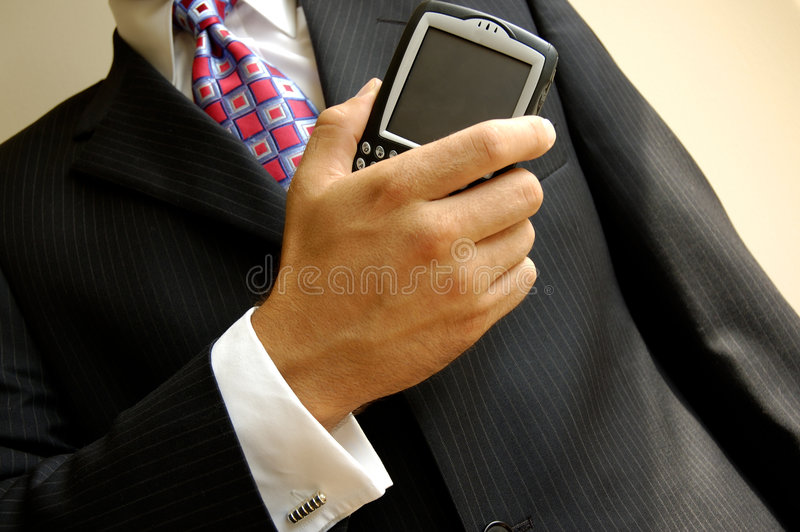 Wireless Businessman stock images