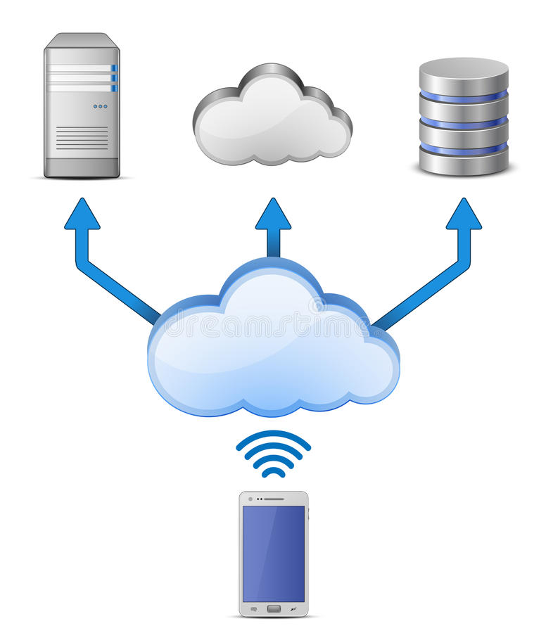 Download Wireless Cloud Computing Network Stock Vector - Image: 25040098