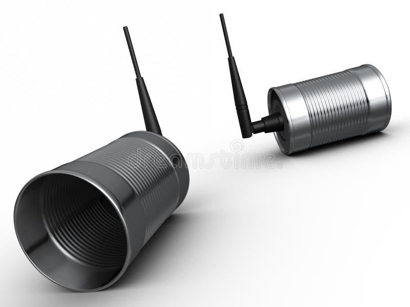 Aluminum Food Can Wireless Phones stock illustration