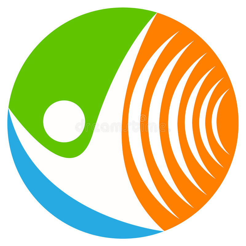 Wireless communication logo. Illustration of wireless communication logo design isolated on white background vector illustration