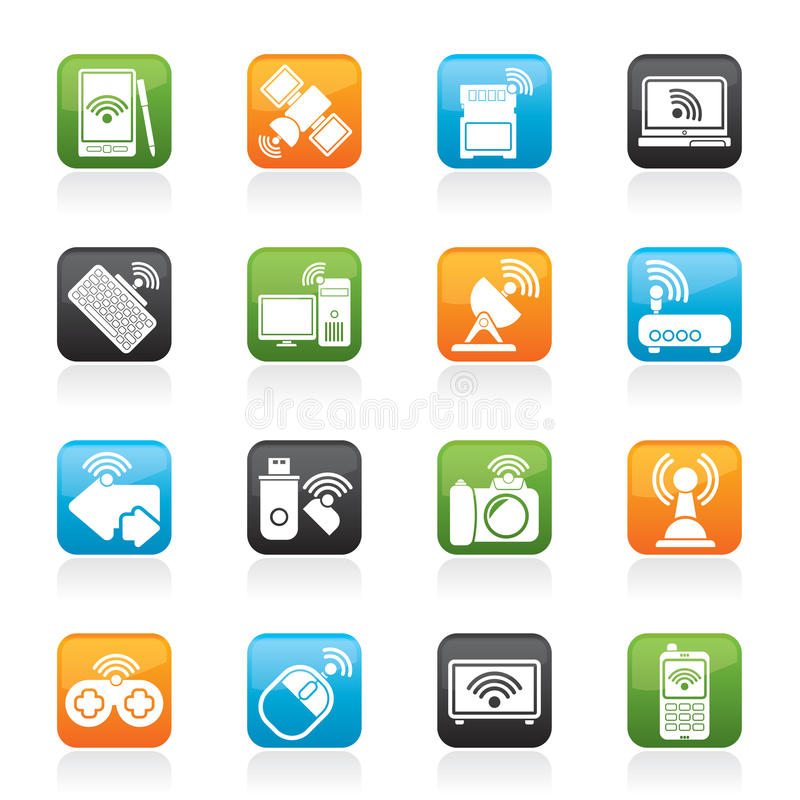 Download Wireless And Communications Icons Stock Vector - Illustration: 34995972